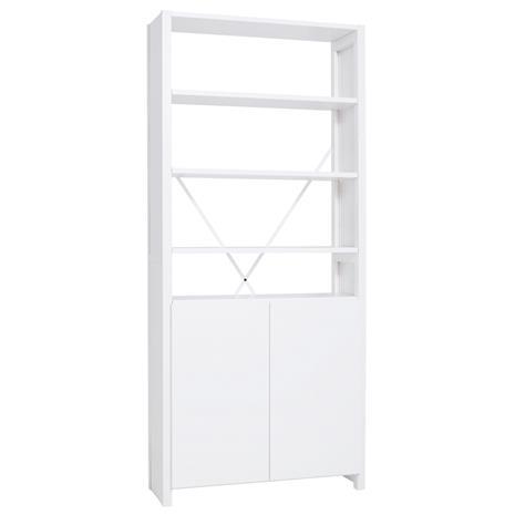 Lundia Classic hylly ovilla, korkea, valkoinen