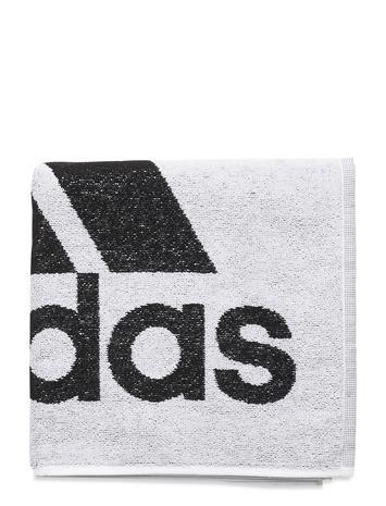 adidas Performance Adidas Towel S Swimwear Beach Towels Valkoinen Adidas Performance WHITE/BLACK