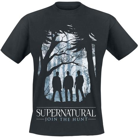 Supernatural - Silhouettes - T-paita - Miehet - Musta