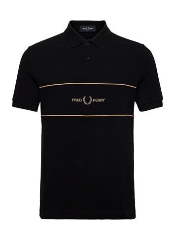 Fred Perry Embroid. Panel Polo Polos Short-sleeved Musta Fred Perry BLACK