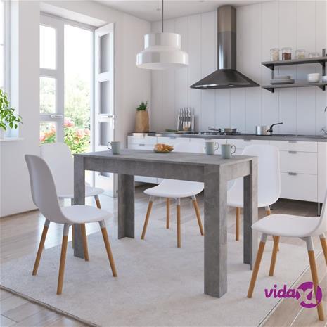 vidaXL Ruokapöytä betoninharmaa 120x60x76 cm lastulevy, Ruokapöydät ja -tuolit