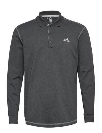 adidas Golf Ls Thermal Polo Polos Long-sleeved Harmaa Adidas Golf BLKHEA