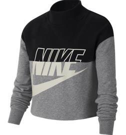 Nike G NSW CROP CREW BLACK/CARBON