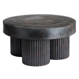 NORR11 Gear sohvapöytä matala Ø 70 cm Earth (ruskea-musta)