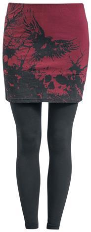Black Premium by EMP - 2 in 1: Leggings und Rock - Leggingsit - Naiset - Musta