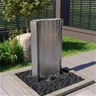 vidaXL Puutarhan suihkulähde hopea 60 2x37x122 1 cm ruostumaton teräs