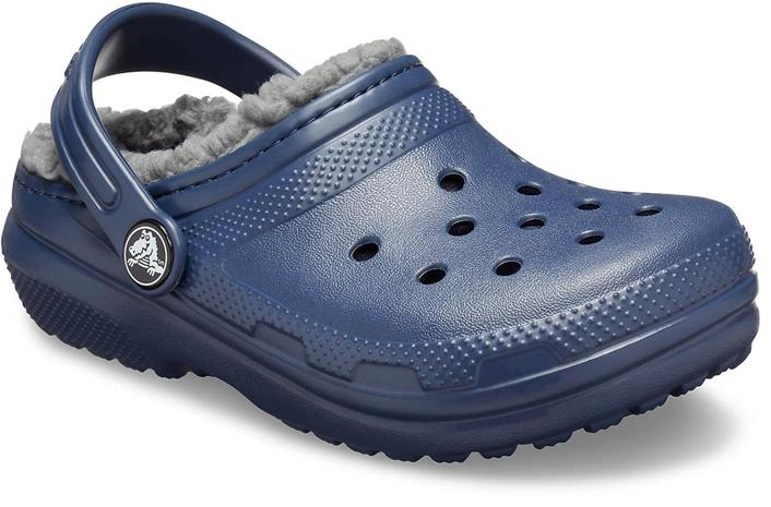 Crocs Classic Lined Clog, Navy/Charcoal, 22-23