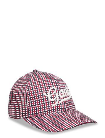 GANT D1. Preppy Check Cap Accessories Headwear Caps Punainen GANT RED