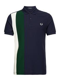 Fred Perry Side Panel Stripe Polo Polos Short-sleeved Sininen Fred Perry CARBON BLUE