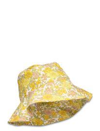 Faithfull The Brand Bettina Bucket Hat Accessories Headwear Bucket Hats Keltainen Faithfull The Brand GREY GARDEN FLORAL PRINT