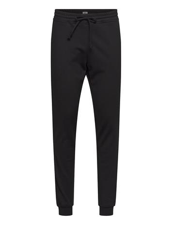R-Collection Slim Sweatpants Collegehousut Olohousut Musta R-Collection BLACK, Miesten housut ja muut alaosat