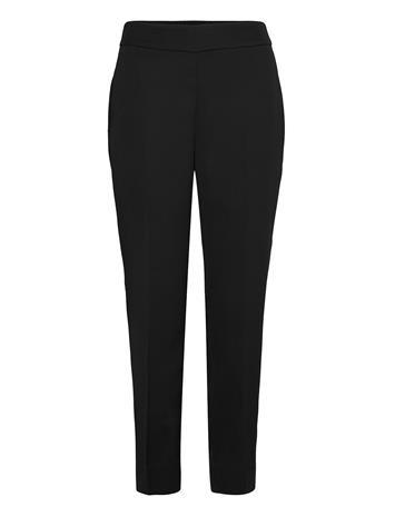 Second Female Garbo Trousers Suoralahkeiset Housut Musta Second Female BLACK