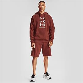 Under Armour M RIVAL FLEECE 3 LOGO HD CINNA RED/ONYX WHI