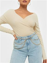 NLY Accessories Hip Layered Chain Belt