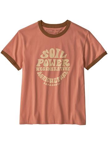 Patagonia Road To Regenerative Ringer T-Shirt mellow melon Naiset