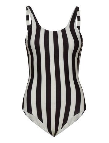 DEDICATED Swimsuit Rana Big Stripes Uimapuku Uima-asut Valkoinen DEDICATED WHITE