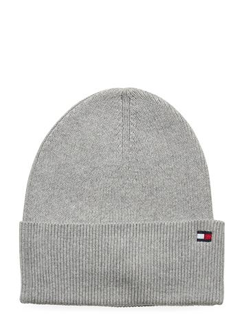 Tommy Hilfiger Essential Knit Beani Accessories Headwear Beanies Harmaa Tommy Hilfiger MID GREY HEATHER