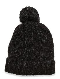 adidas Golf W Pom Beanie Accessories Headwear Beanies Musta Adidas Golf BLACK