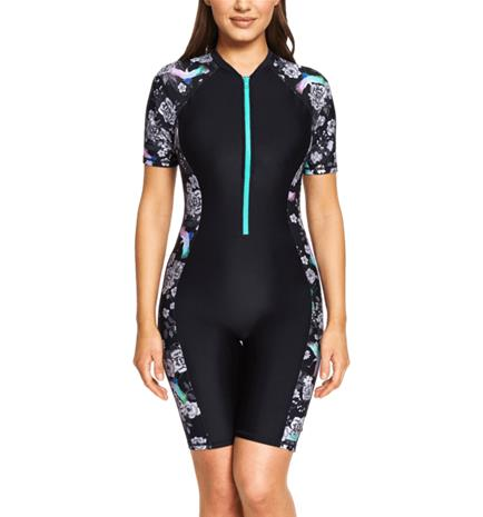 Zoggs W SAKURA KNEESUIT BLACK/MULTI