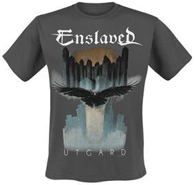 Enslaved - Utgard Raven - T-paita - Miehet - Tummanharmaa