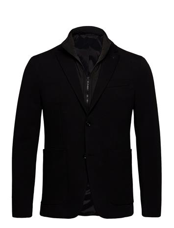 Calvin Klein Jersey Stretch Inner Bib Blazer Bleiseri Puvun Takki Musta Calvin Klein CK BLACK