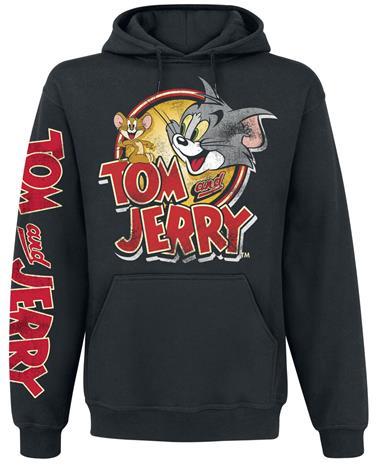Tom & Jerry - Cartoon Logo - Huppari - Miehet - Musta