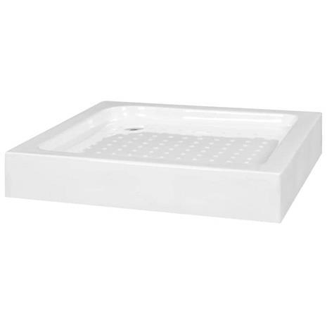vidaXL Suihkualusta 80x80x13,5 cm akryyli valkoinen