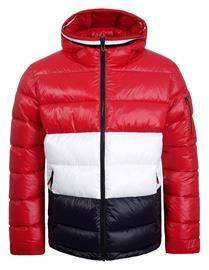Luhta JUNGAR -miesten talvitakki, punainen-tummansininen XL