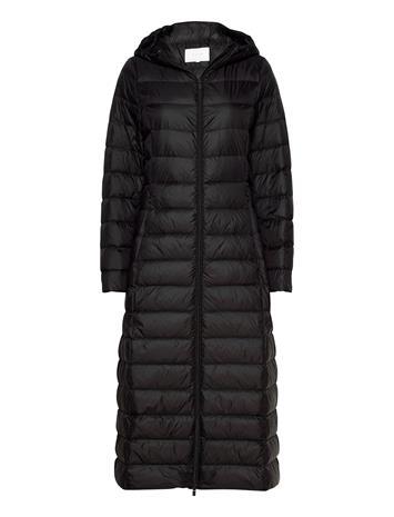 Vila Vimanya New Long Light Down Jacket -Noos Topattu Pitkä Takki Musta Vila BLACK