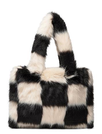 Stand Studio Liz Bag Bags Top Handle Bags Monivärinen/Kuvioitu Stand Studio OFF WHITE/BLACK CHECK