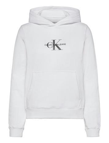 Calvin Klein Jeans Glitter Monogram Hoodie Huppari Valkoinen Calvin Klein Jeans BRIGHT WHITE