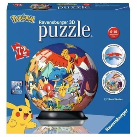 POKEMON Puzzle 3D 72 kpl