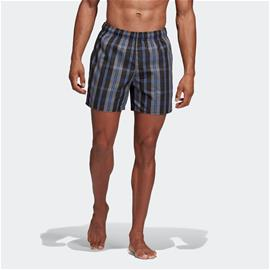 adidas Check Print Swim Shorts