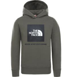 The North Face J NEW BOX CREW PO HOODIE NEW TAUPE GREEN