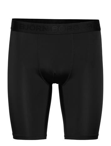 Björn Borg Long Shorts Peter Bb Solid Shorts Sport Shorts Musta Björn Borg BLACK BEAUTY