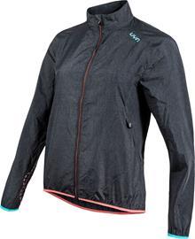 UYN Running Activyon OW Melange Wind Jacket Women, anthracite melange/turquoise/sugar coral