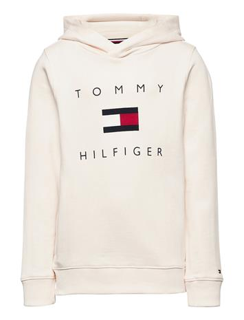 Tommy Hilfiger Th Logo Hoodie Huppari Kermanvärinen Tommy Hilfiger IVORY PETAL, Lastenvaatteet