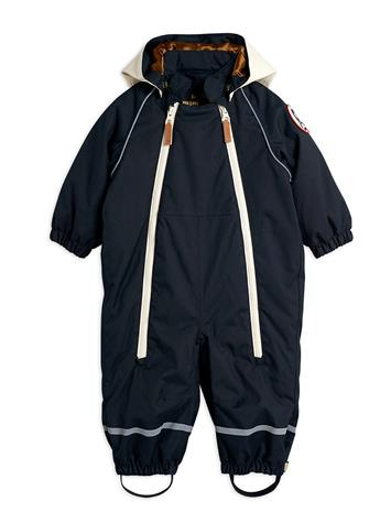 Mini Rodini Alaska Panda Baby Overall Outerwear Thermo Outerwear Thermo Suits Musta Mini Rodini BLACK