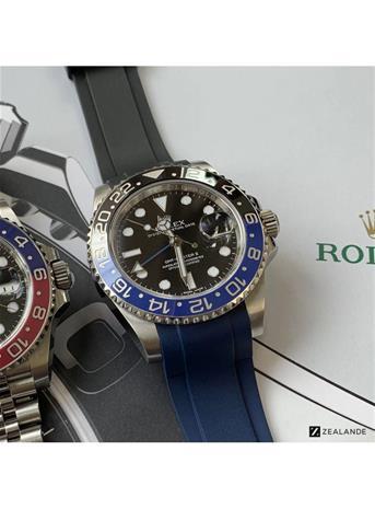 Rubber strap Passar till Rolex Submariner, GMT och Omega seamaster färg svart