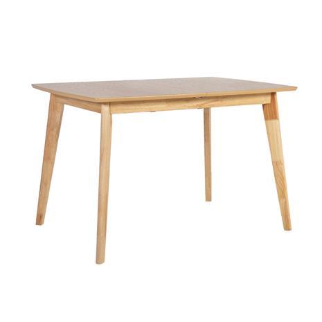 Ruokapöytä JONNA 120/160x80xH76cm, pöytälevy: tammiviilutettu MDF, jalat ja runko: kumipuu, väri: luonnollinen
