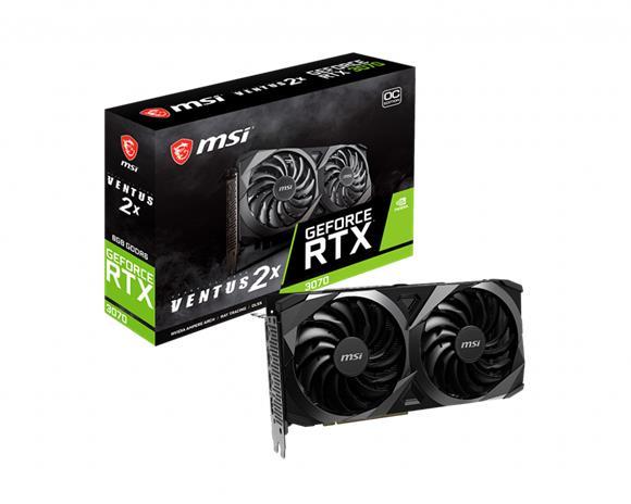 MSI GeForce RTX 3070 Ventus 2X OC 8 GB, PCI-E, näytönohjain