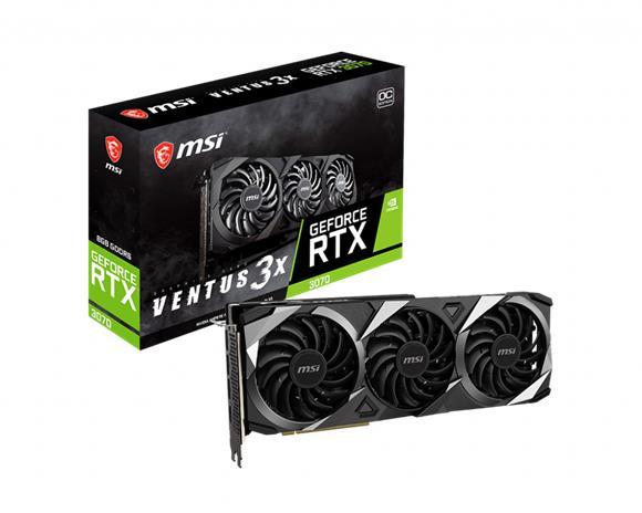 MSI GeForce RTX 3070 Ventus 3X OC 8 GB, PCI-E, näytönohjain