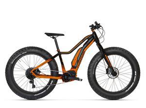 Tunturi eMAX 2020 Fatbike -sähköpyörä, 40 cm, mattamusta/oranssi