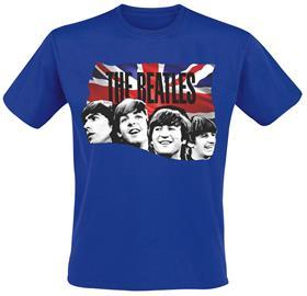 The Beatles - Union Jack - T-paita - Miehet - Syvänsininen