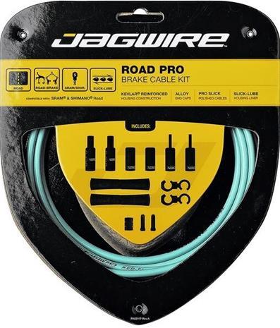 Jagwire Road Pro Brake Cable Kit, bianchi celeste
