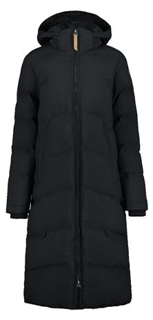 Icepeak Artas naisten pitkä talvitakki, musta 46