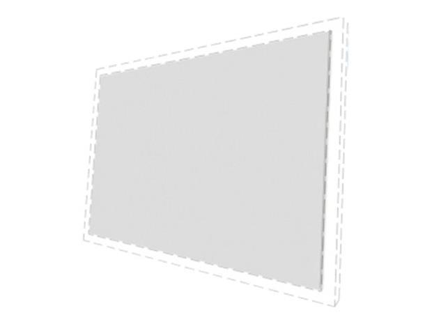 "Multibrackets M Grey Plus Extra Cloth 16:10 100"", valkokangas"