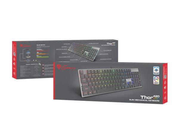 Natec Genesis Thor 420 RGB, pelinäppäimistö