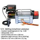 Rock RC-8000 8 mm x 30,5 m 12 V / 3629 kg vinssi