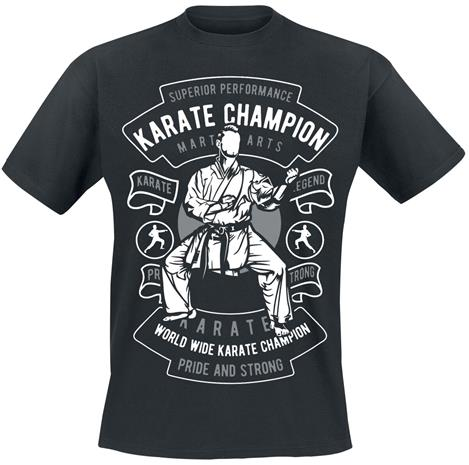Karate Champion - - T-paita - Miehet - Musta